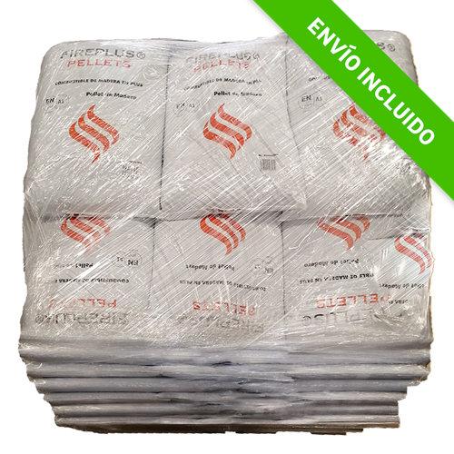 Palet de 25 sacos de pellet fireplus eider biomasa