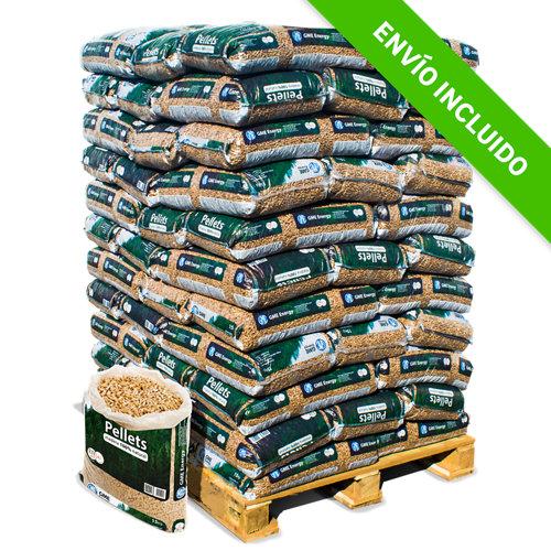 Palet de 77 sacos de pellet gme woodpellet