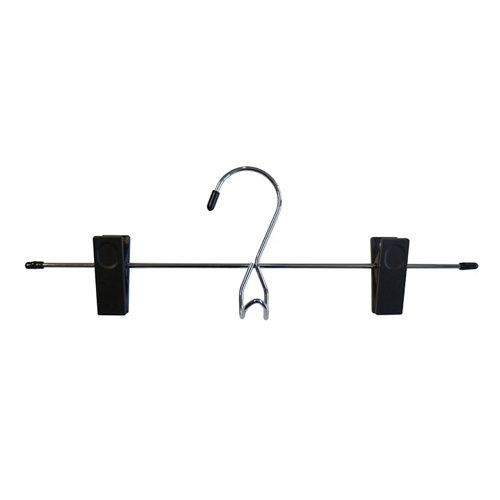 Colgador con ganchos de metal color negro