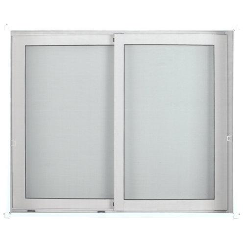 Mosquitera fija artens para ventana con tela de fibra de vidrio de 150x150 cm