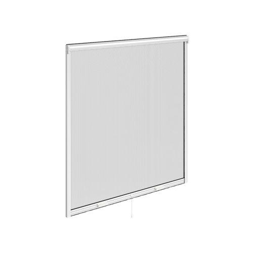 Mosquitera enrollable artens ventana con tela de fibra de vidrio de 160x160 cm
