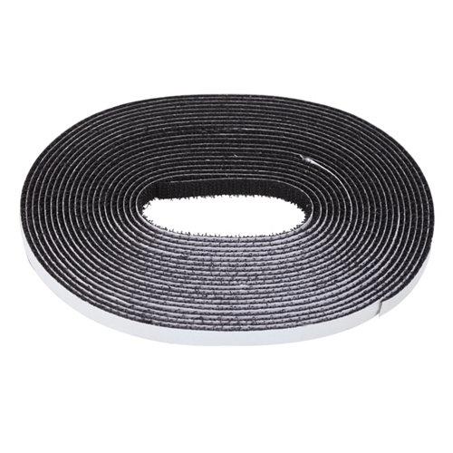 Rollo de cinta negra autocierre de 5.6x0.002m