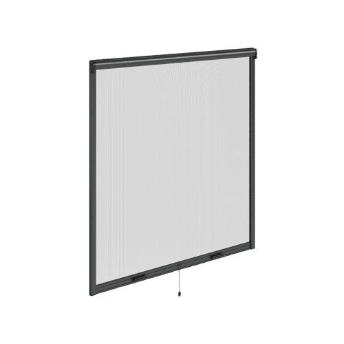 Mosquitera enrollado vertical gris para ventana de 140x140 cm