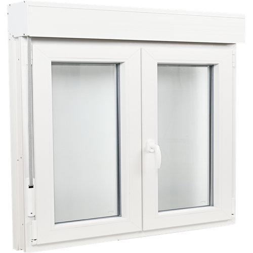 Ventana pvc blanca oscilobatiente persiana 140x115 cm
