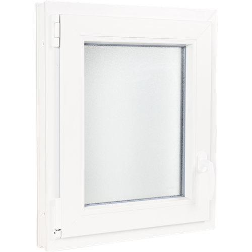Ventana pvc blanca oscilobatiente izquierda 60x70 cm