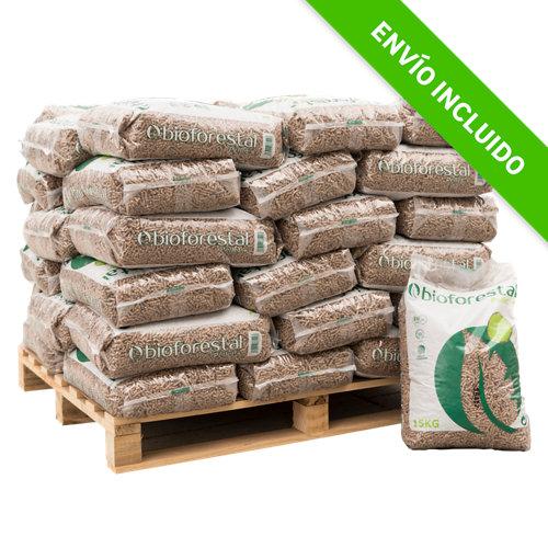 Palet de 35 sacos de pellet bioforestal