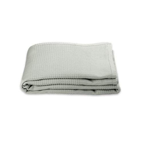Manta trama gris algodón de 250x150 cm