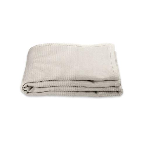 Manta trama beige algodón de 250x150 cm