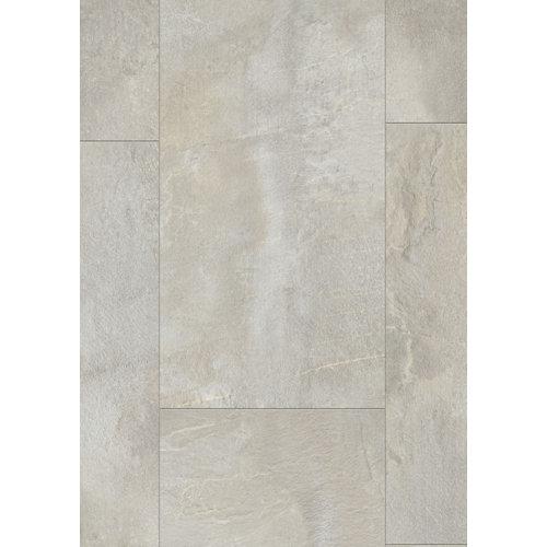 Loseta vinílica clic gerflor intenso shale beige, estilo piedra