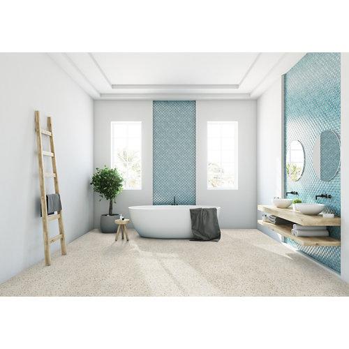 Loseta vinílica clic gerflor intenso villa beige, estilo terrazo