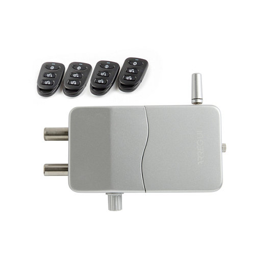Cerradura invisible con alarma ci10d plata