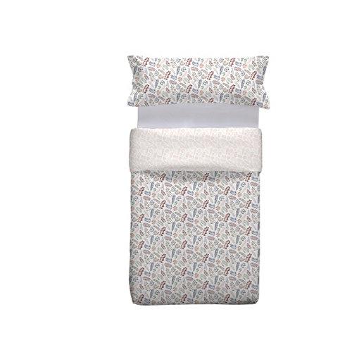 Funda nórdica ikigai multicolor para cama 90 / 105 cm