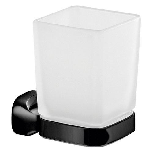 Vaso de baño stelvio cristal/negro mate