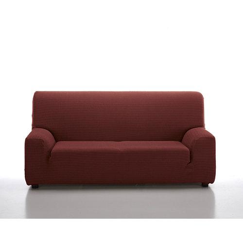 Funda sofá elástica manacor granate 3 plazas