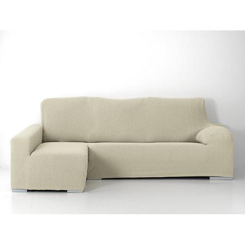 Funda chaise longue elástica edir beig derecho
