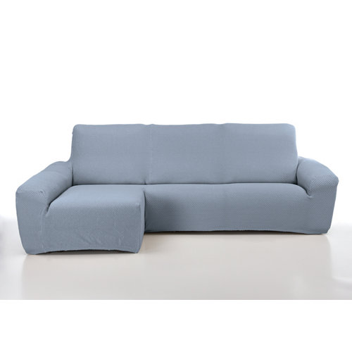 Funda chaise longue elástica erik azul derecho