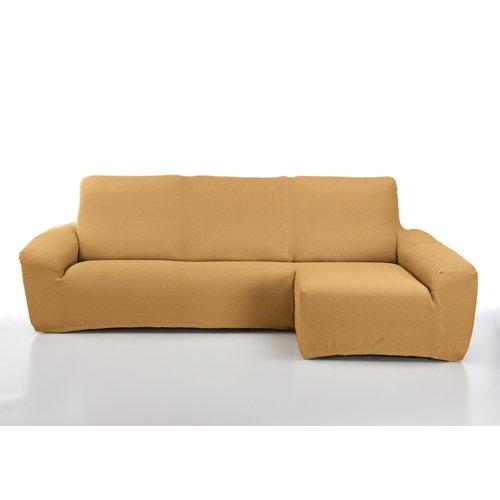 Funda chaise longue elástica erik mostaza izquierdo