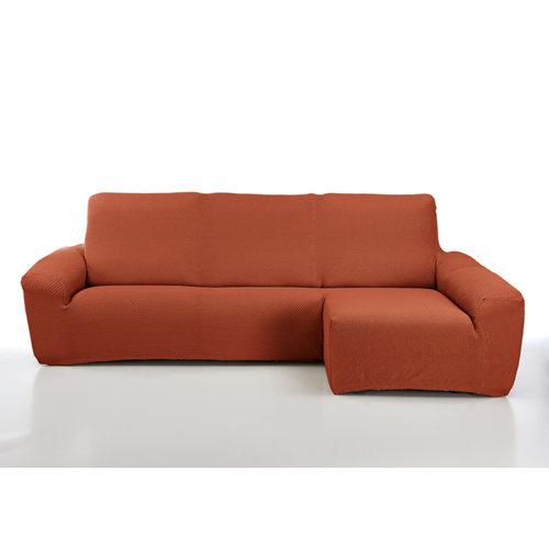 Funda chaise longue elástica erik naranja izquierdo