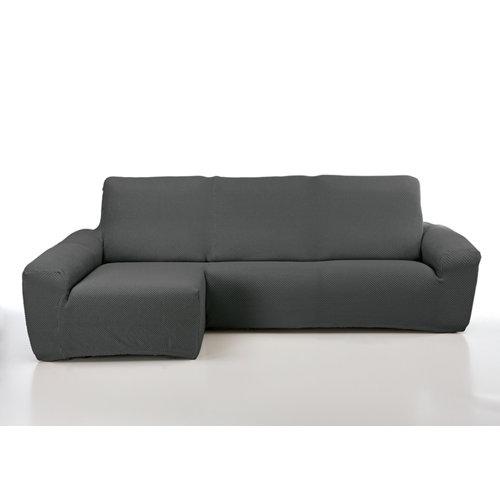 Funda chaise longue elástica erik gris derecho