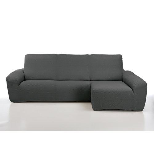 Funda chaise longue elástica erik gris izquierdo