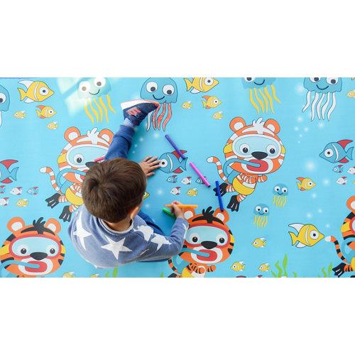 Alfombra pintable markids bajo el mar 120 x 200cm