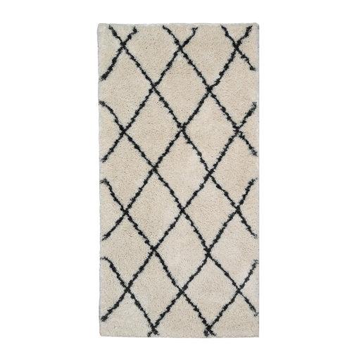 Alfombra beige microfibra blizz bereber 80 x 150cm