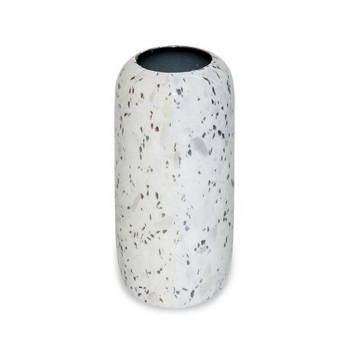 Jarrón resina capsula blanca 17 cm