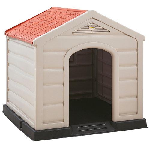 Caseta para perro de polipropileno kennel large 90x89x92 cm