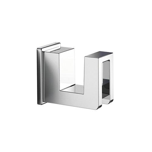 Percha de baño kubo gris / plata brillante