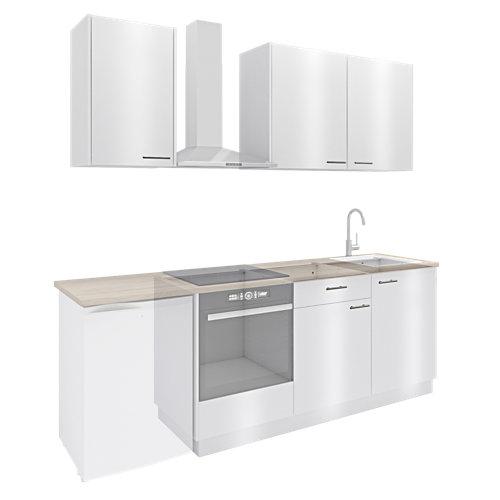 Cocina one click delinia id sevilla blanco brillan i 230cm muebles altos y bajos