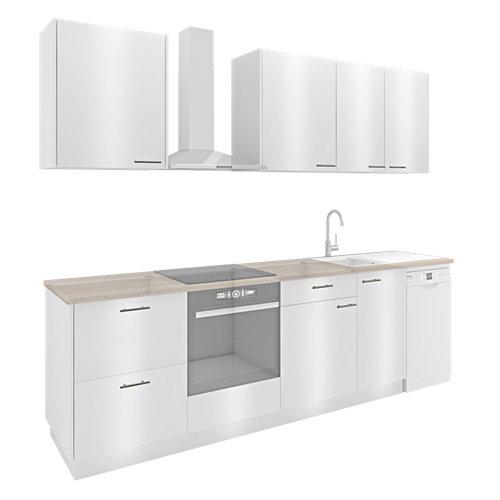 Cocina one click delinia id sevilla blanco brillan i 325cm muebles altos y bajos