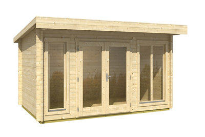 Caseta de madera Dorset de 430x234x320 cm y 9.75 m2