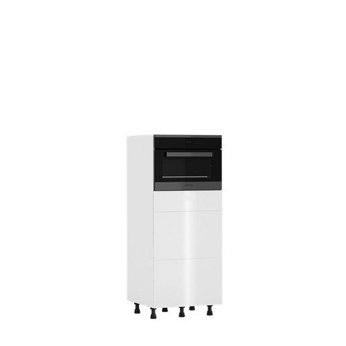Mueble horno cocina delinia id sevilla blanco brillante 137,6x60 cm 3caj