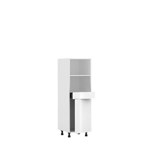 Mueble horno cocina delinia id sevilla blanco brillan 137,6x60 cm 1pta 1caj