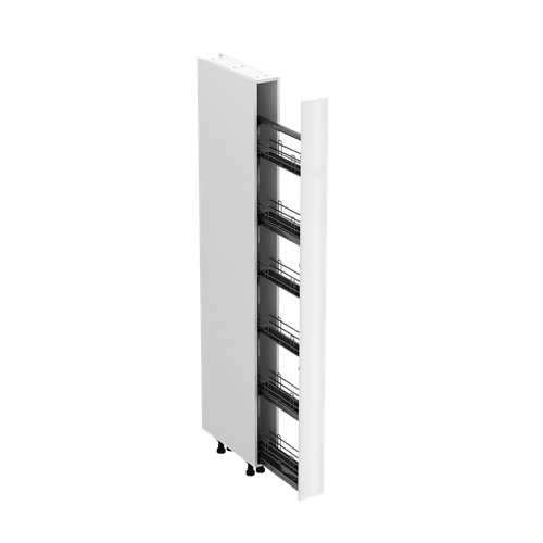 Mueble columna cocina delinia id sevilla blanco 214,4x15cm 1 pta kit ext