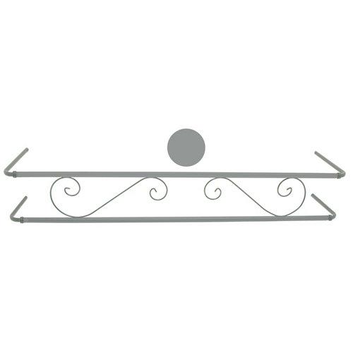 Portamaceteros para balconera clásica gris 100-140 cm