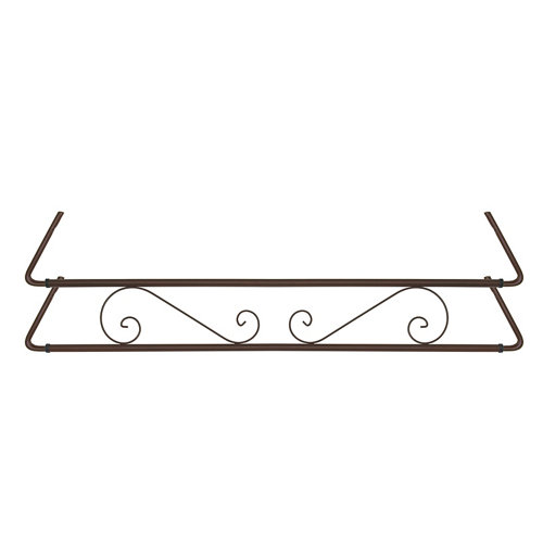 Portamaceteros para balconera clásico marrón forja 100-140