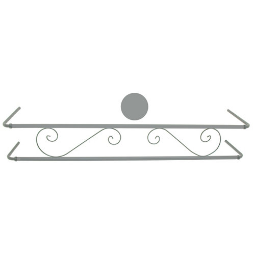 Portamaceteros para balconera clásico gris 140-200