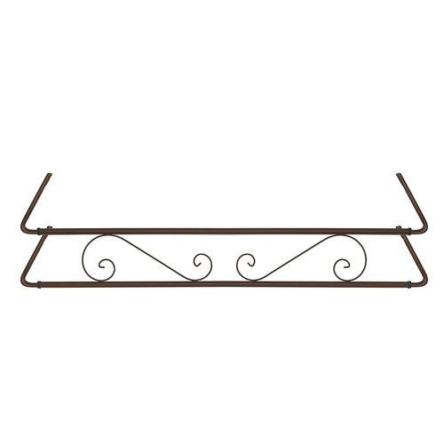 Portamaceteros para balconera clásico marrón forja 140-200