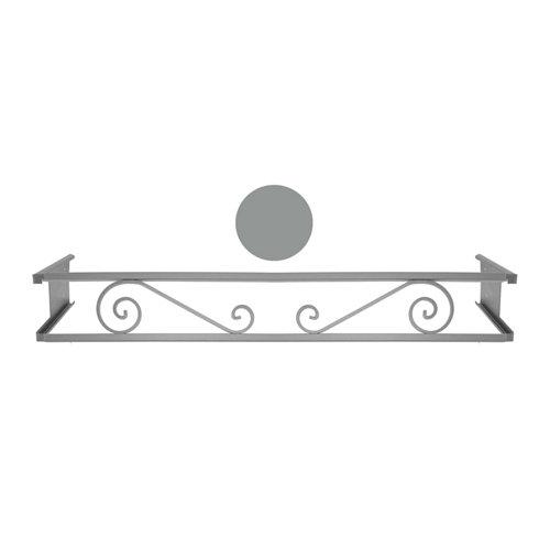 Portamaceteros desmontable volutas gris 140-200