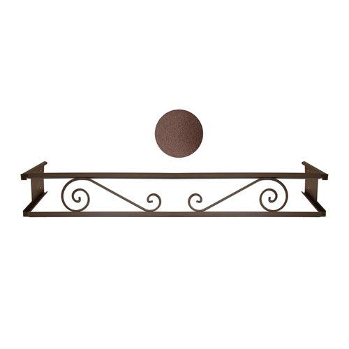 Portamaceteros desmontable volutas marrón forja 140-200