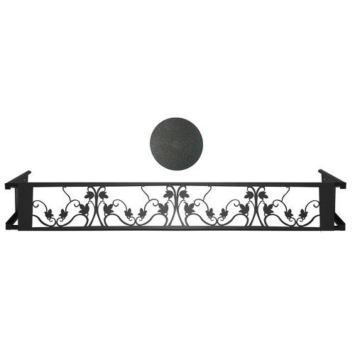 Portamaceteros desmontable floral negro forja 100-140
