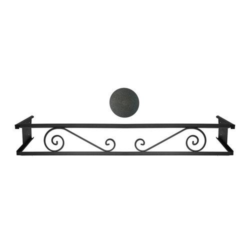 Portamaceteros desmontable volutas negro forja 140-200