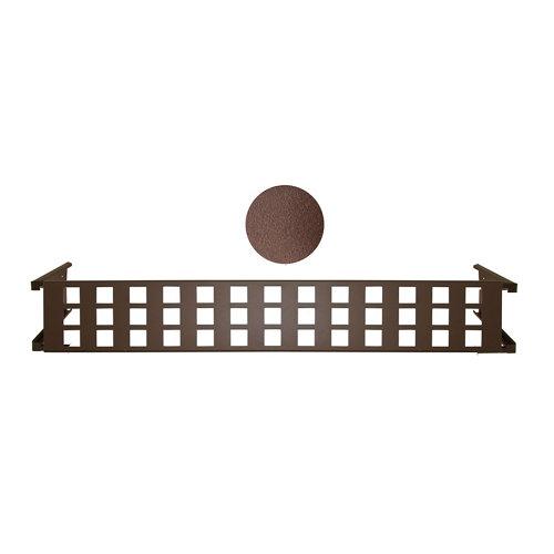 Portamaceteros desmontable cuadros marrón forjado 140-200