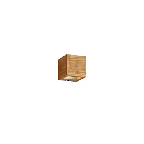 Aplique led brad madera d12.5 marrón