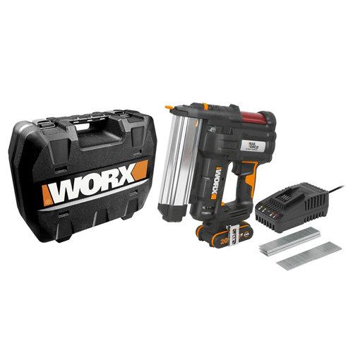 Grapadora clavadora nail force worx 20v batería 2ah