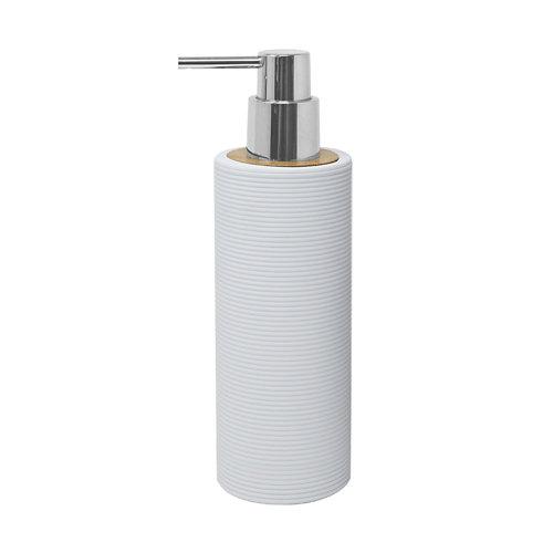Dispensador de jabón laos de plástico blanco