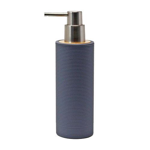 Dispensador de jabón laos de plástico gris / plata
