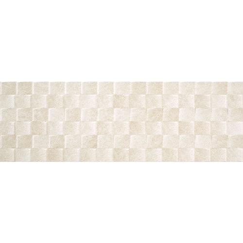 Revestimiento palermo calcite 33x100 color blanco estilo piedra con relieve