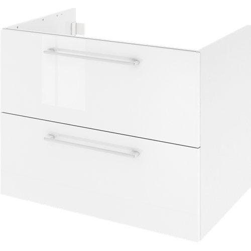 Mueble de baño con lavabo remix con 2 cajones blanco 75x48 cm